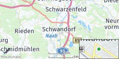 Google Map of Schwandorf