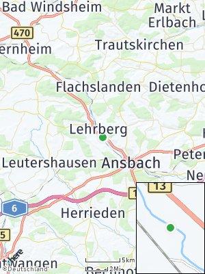 Here Map of Lehrberg