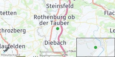Google Map of Gebsattel
