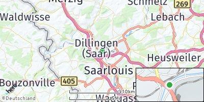 Google Map of Dillingen / Saar