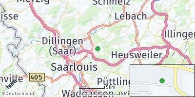 Google Map of Saarwellingen