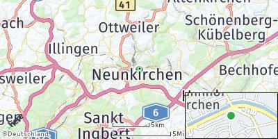 Google Map of Neunkirchen / Saar