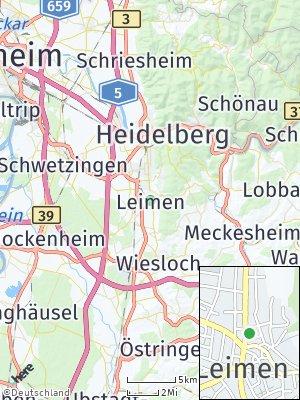 Here Map of Leimen