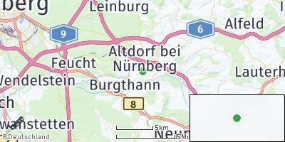 Google Map of Prackenfels bei Nürnberg