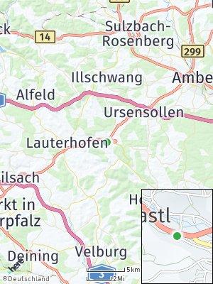 Here Map of Kastl bei Amberg