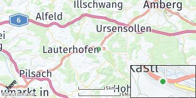Google Map of Kastl bei Amberg