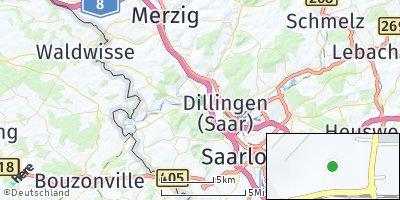 Google Map of Rehlingen-Siersburg