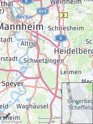 Here Map of Schwetzingen