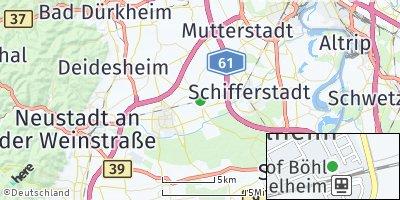 Google Map of Böhl-Iggelheim