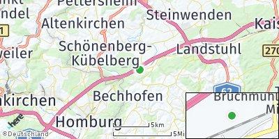 Google Map of Bruchmühlbach-Miesau