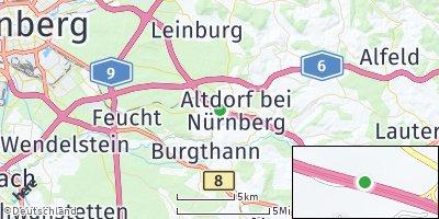Google Map of Weinhof bei Nürnberg