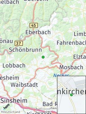 Here Map of Neunkirchen bei Mosbach