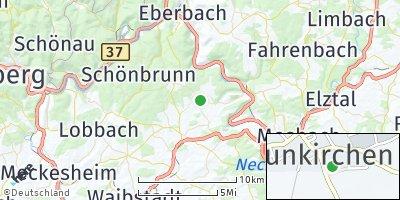 Google Map of Neunkirchen bei Mosbach