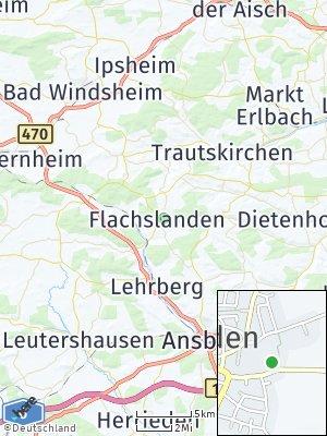 Here Map of Flachslanden