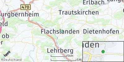 Google Map of Flachslanden