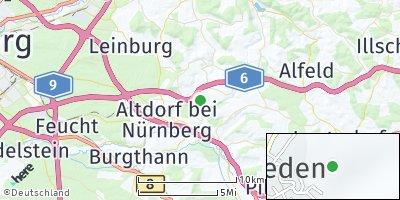 Google Map of Unterrieden bei Nürnberg