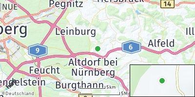 Google Map of Hegnenberg bei Nürnberg