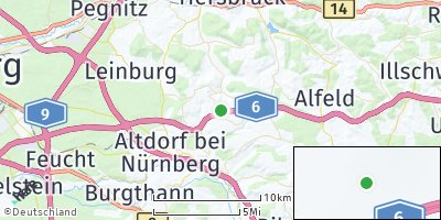 Google Map of Oberrieden bei Nürnberg