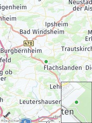 Here Map of Oberdachstetten