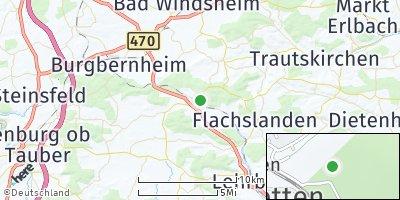 Google Map of Oberdachstetten