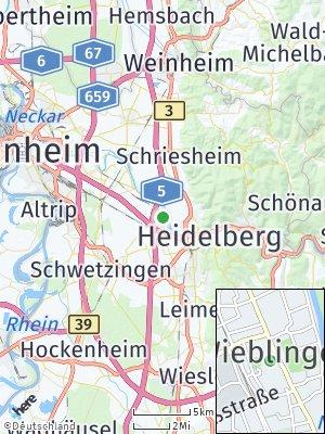Here Map of Wieblingen