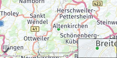 Google Map of Breitenbach