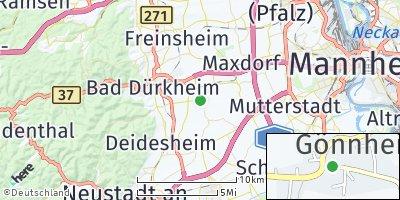 Google Map of Gönnheim
