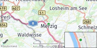 Google Map of Merzig