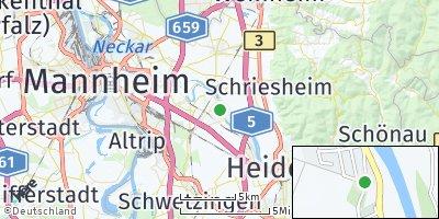 Google Map of Edingen-Neckarhausen