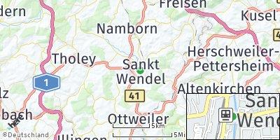 Google Map of Sankt Wendel