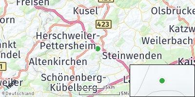 Google Map of Glan-Münchweiler