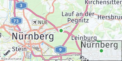 Google Map of Schwaig bei Nürnberg