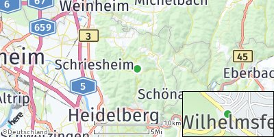 Google Map of Wilhelmsfeld