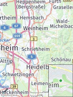 Here Map of Schriesheim