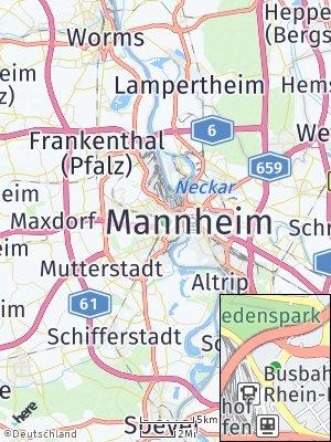 Here Map of Ludwigshafen am Rhein