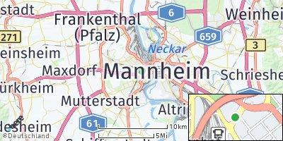 Google Map of Ludwigshafen am Rhein