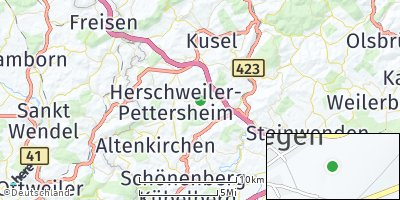 Google Map of Wahnwegen