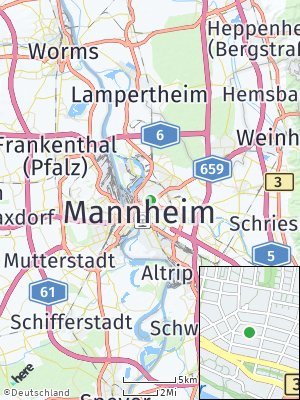Here Map of Mannheim