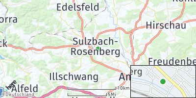 Google Map of Sulzbach-Rosenberg