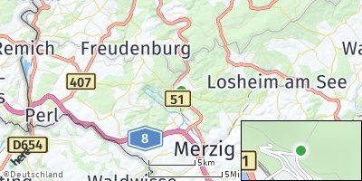 Google Map of Mettlach