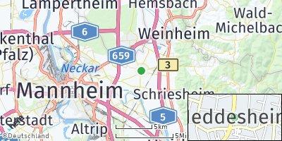 Google Map of Heddesheim