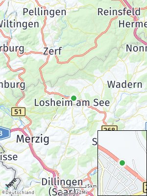 Here Map of Losheim am See