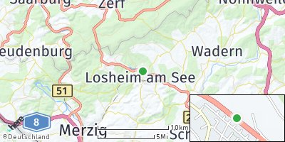 Google Map of Losheim am See