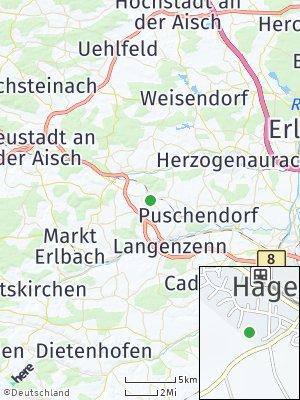 Here Map of Hagenbüchach