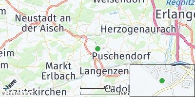 Google Map of Hagenbüchach