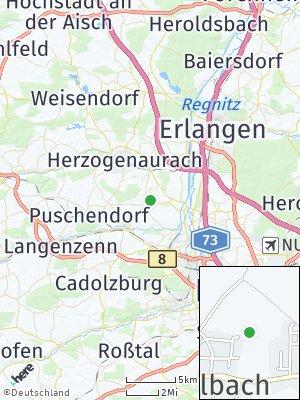 Here Map of Obermichelbach bei Fürth