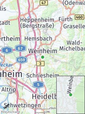 Here Map of Lützelsachsen
