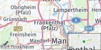 Google Map of Frankenthal