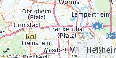 Google Map of Heßheim