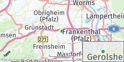 Google Map of Gerolsheim